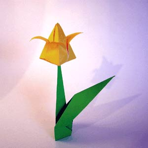 Тюльпаны из бумаги своими руками оригами схема фото 185