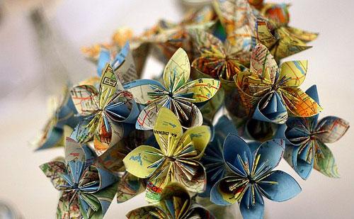 Оригами в свадебных букетах