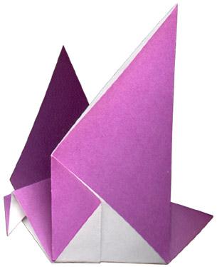 Голубь мира оригами простая схема для детей