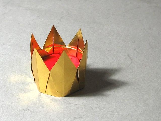 Оригами схема – корона из