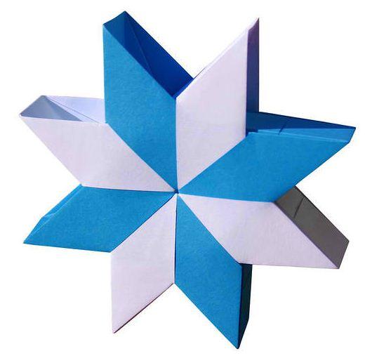 Модульное оригами звезда «