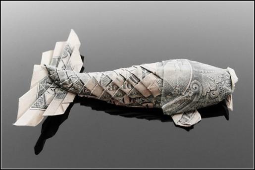 Оригами из денег: красивая