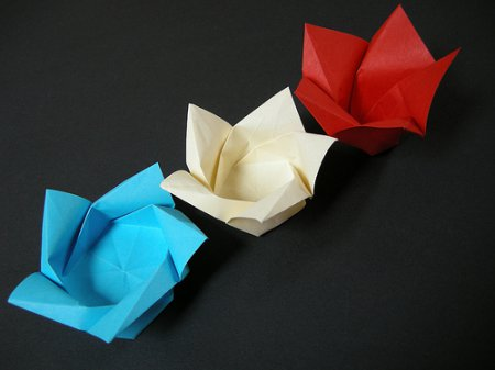 Цветок лотоса по паттерн-схеме