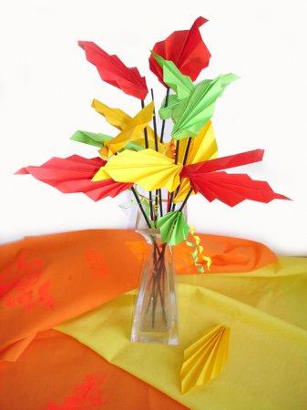 Детское оригами «Осенний букет»