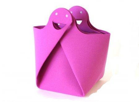 Сумка в стиле оригами