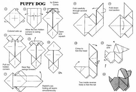 Делаем собачку из бумаги.