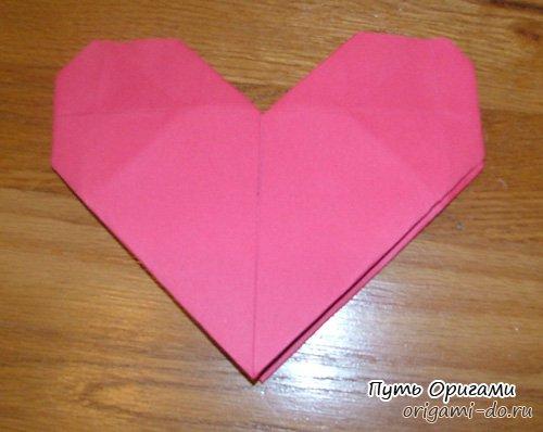Простое оригами сердце – схема