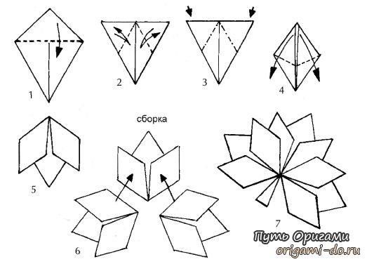 Кленовые листочки оригами