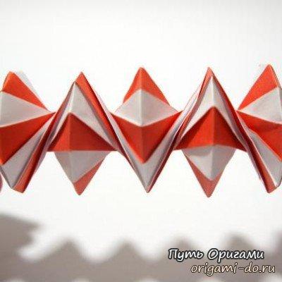 в более сложном оригами,