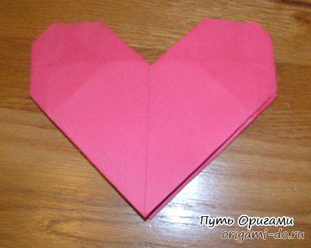 Простое оригами сердце – схема сборки