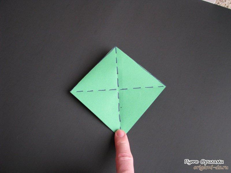 Елочки из бумаги из одного листа