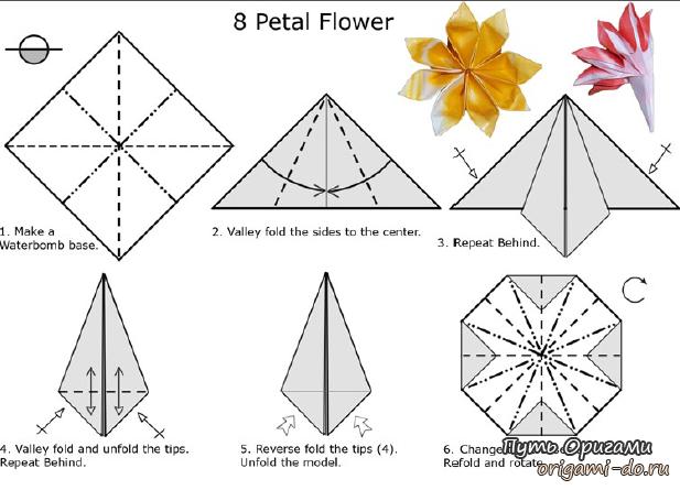 8-лепестковый цветок