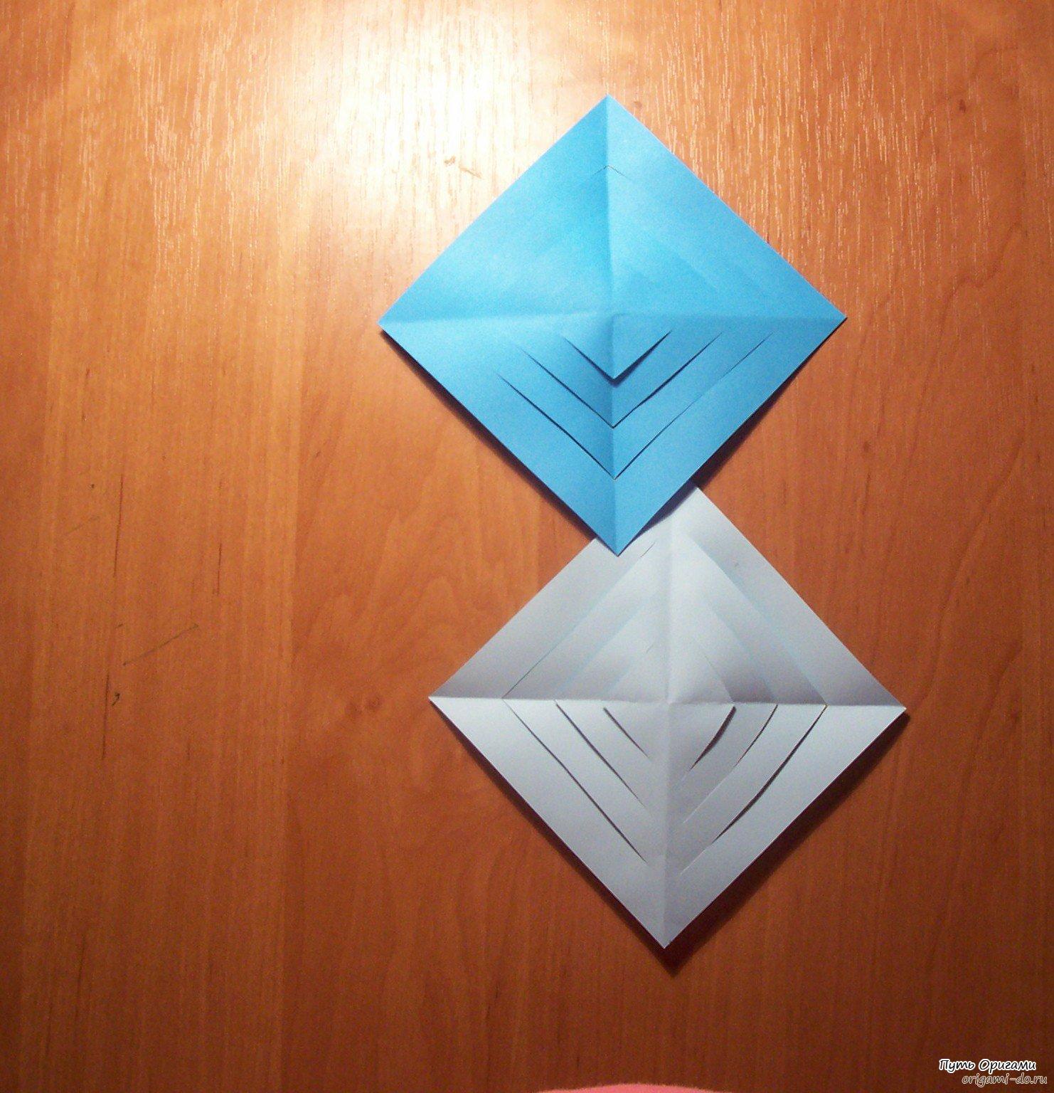 Как делать снежинки оригами фото