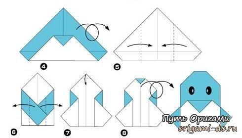 Как сделать из бумаги пингвина оригами