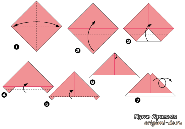 Оригами сборка новогодней
