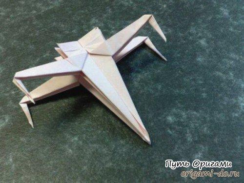Оригами корабль из Звездных