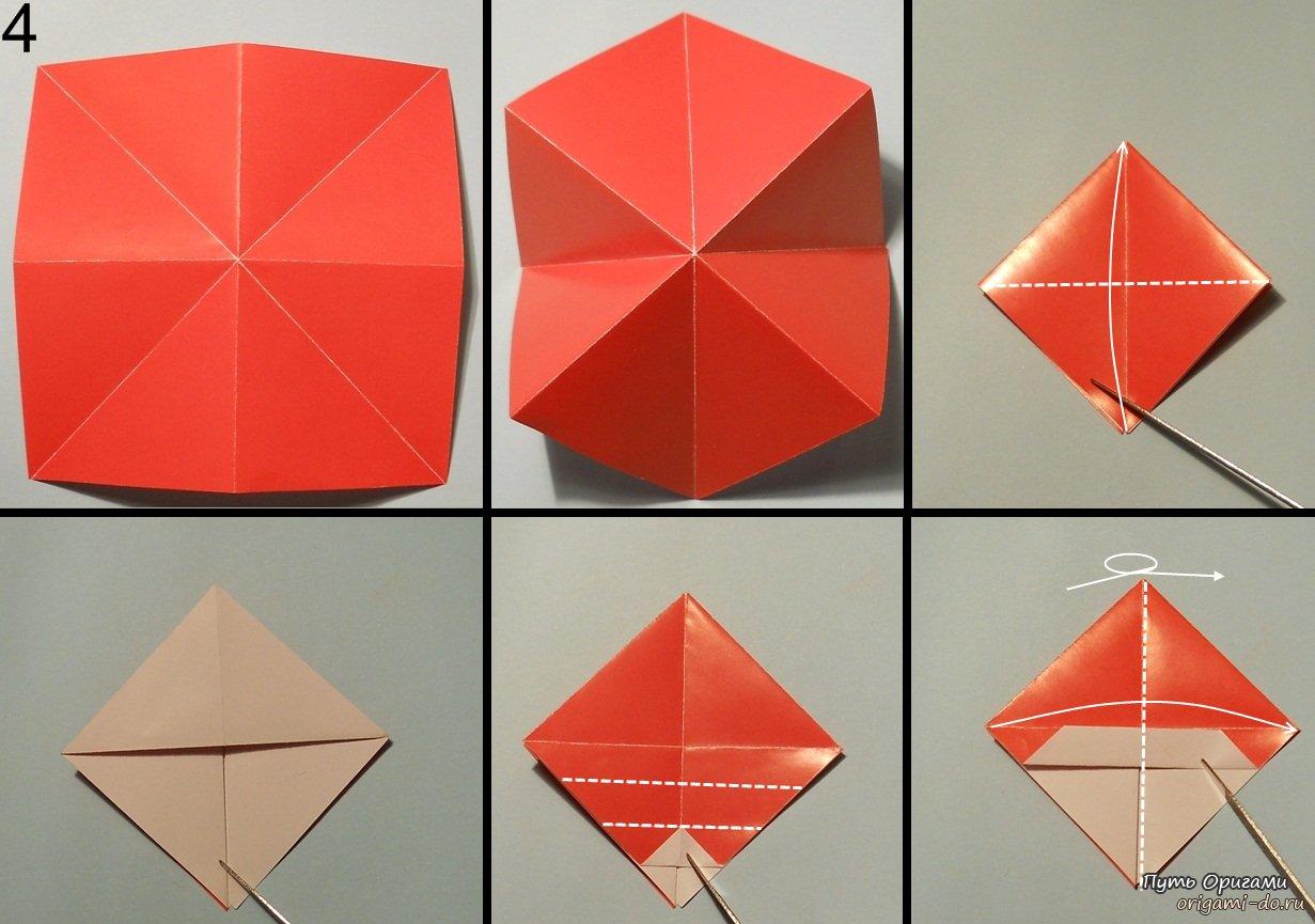 Оригами снеговик.