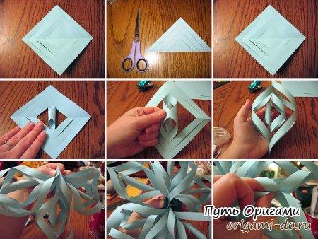 Оригами из бумаги фото снежинка своими руками