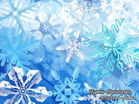 Бумажные снежинки – сразу 3 схемы сборки