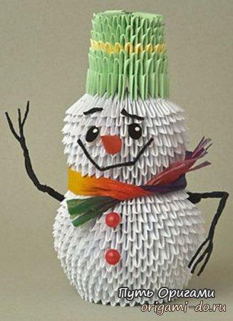 Снеговик из треугольных
