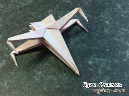 Оригами корабль из Звездных войн
