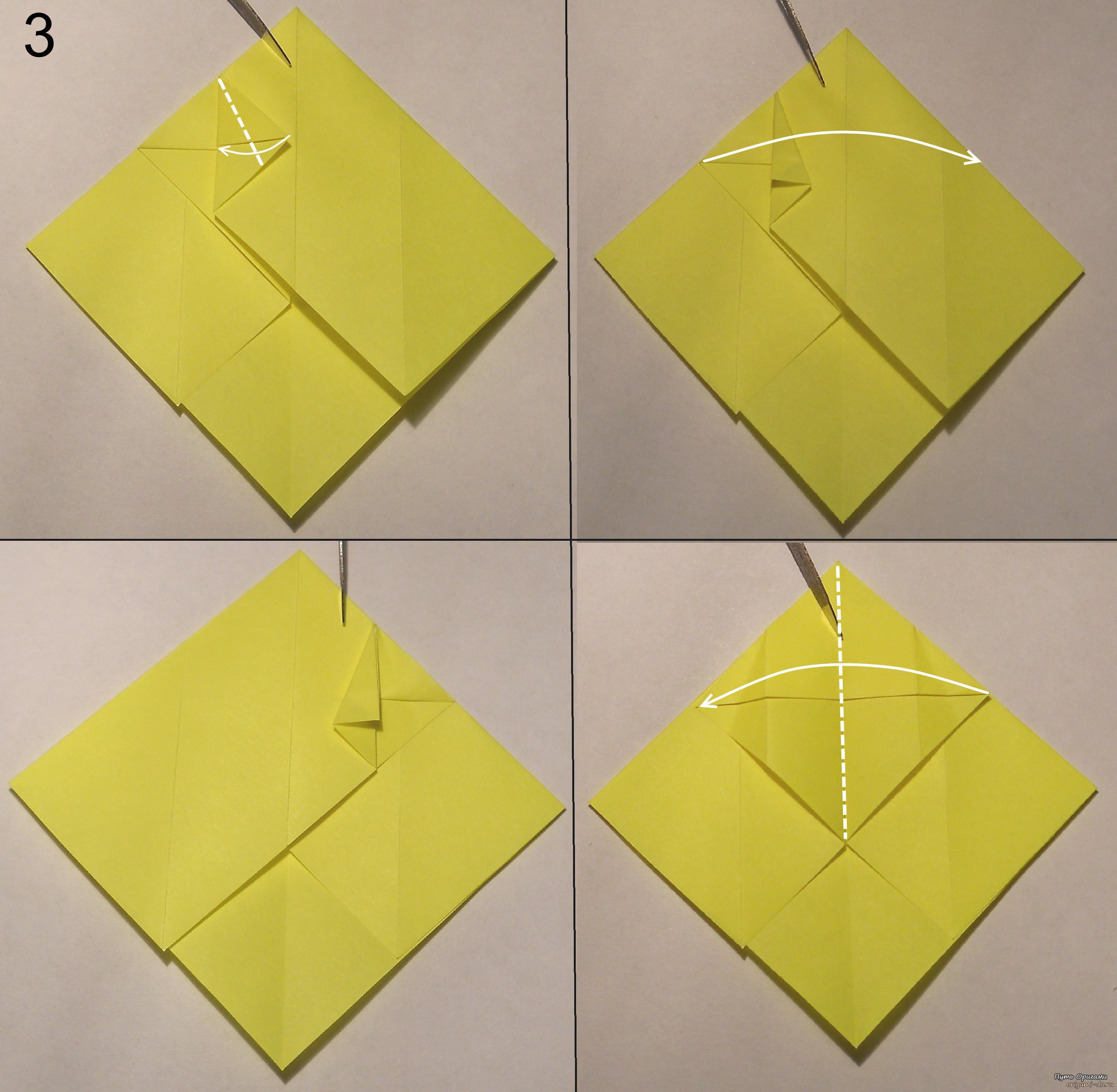 котёнок оригами схема 3.