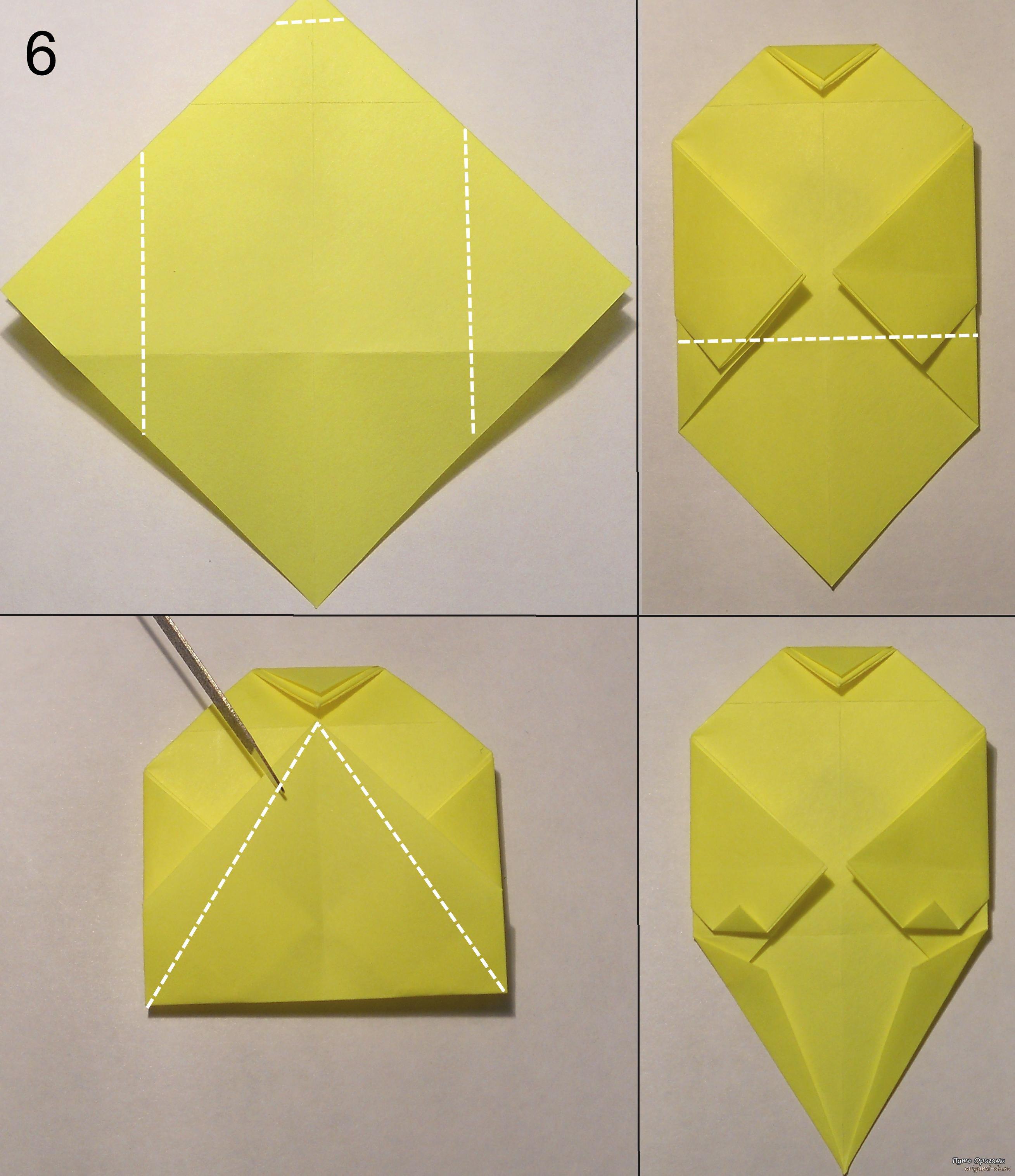 котёнок оригами схема 6.