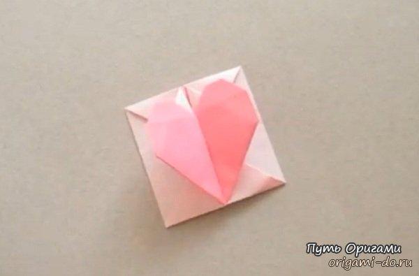 Оригами из бумаги сердце-коробочка