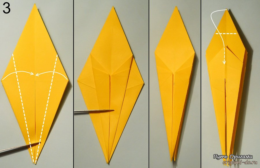 Схема оригами по сборке краба-