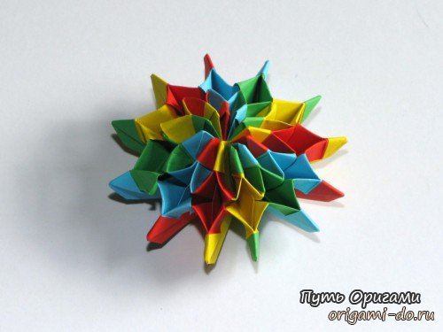 Фейерверк из разноцветной