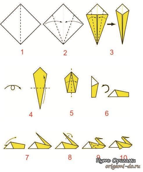 Классика оригами – пеликан