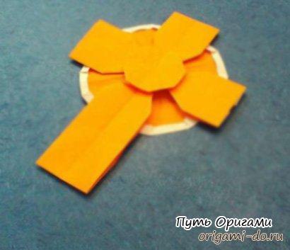 Оригами кельтский крест