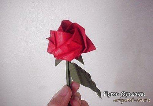 Оригами роза – сразу два