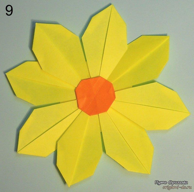 Простое оригами цветы видео