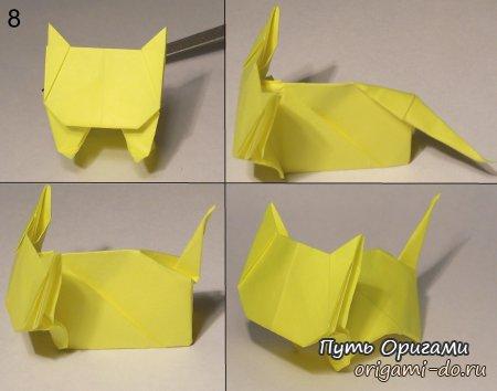 Делаем кота из бумаги