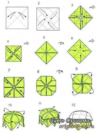 Цветок лотоса – оригами сборка