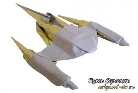 Бумажные Звездные войны - истребитель Naboo