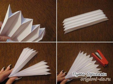Оригами схема гармошки