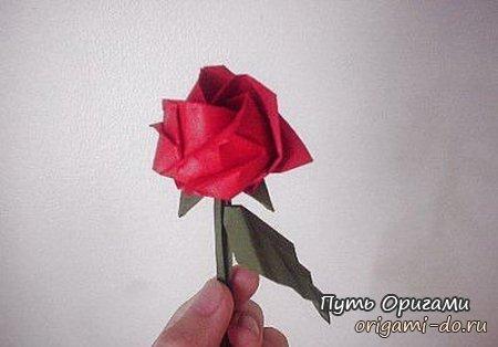 Оригами роза – сразу два варианта сборки