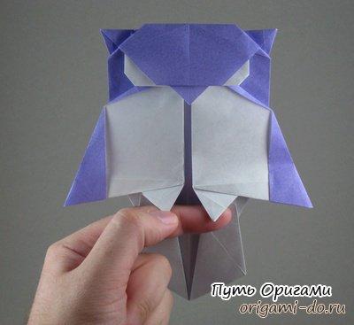 Сова оригами от Стефана Вайса