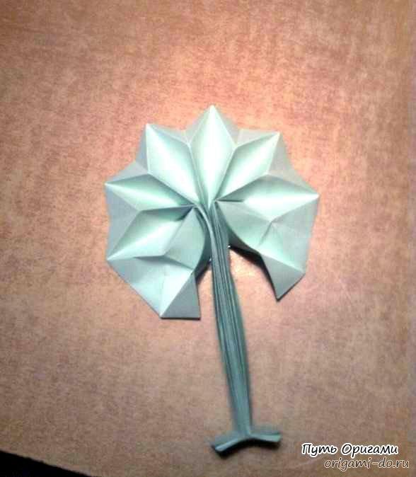 Оригами схема бумажное дерево
