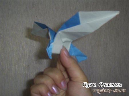 создать орла из бумаги,