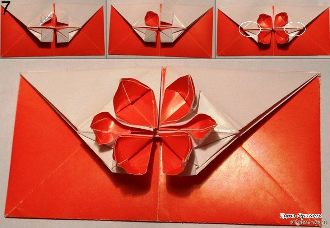 И традиционно, для тех, кто не сумел полноценно прочитать схему оригами конверта, предлагаем видео урок...