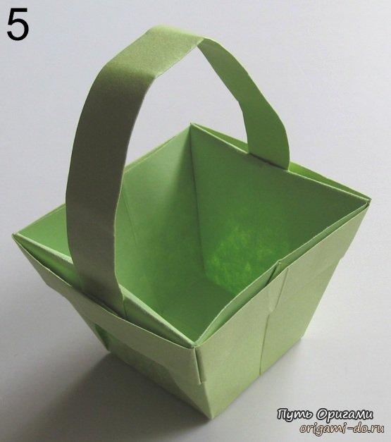 Оригами схема корзина
