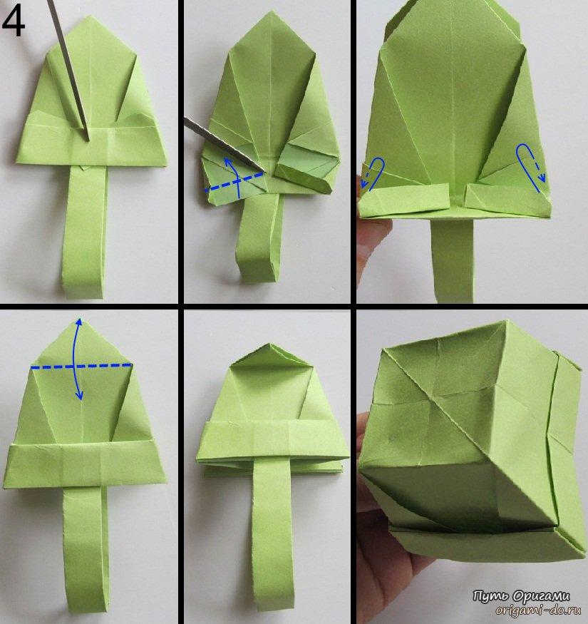 Как сделать оригами корзинку.