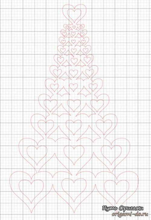 Сердечное киригами