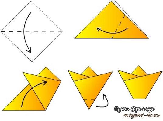 Тюльпаны на 8 марта – оригами