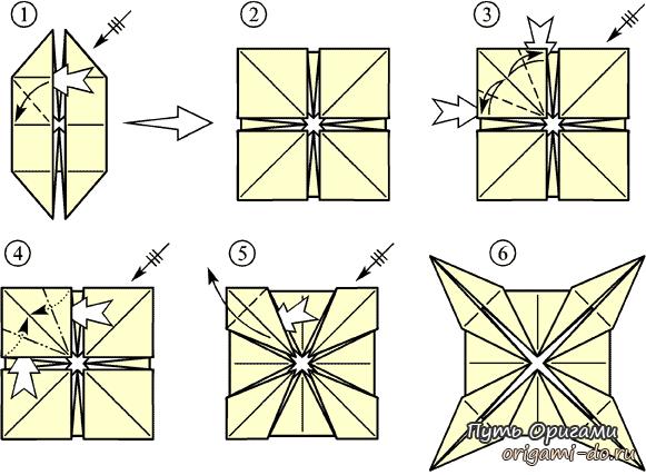 Оригами стол – простая схема