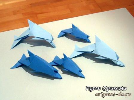 Дельфины своими руками поделка