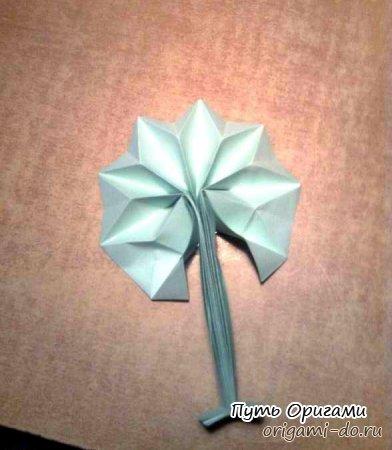 **Оригами схема бумажное дерево